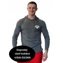 Tričko s kapucí Superhuman - šedá/bílá
