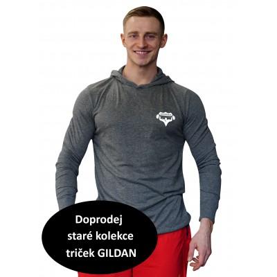 Tričko s kapucí Super Human šedá