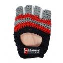 Pletené fitness rukavice Power system BASIC PS-2100 - šedá/červená