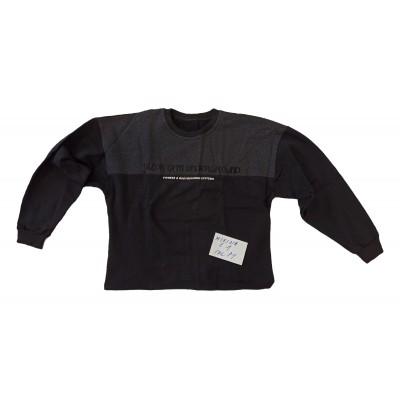 Černá mikina s šedým sedlem velikost M