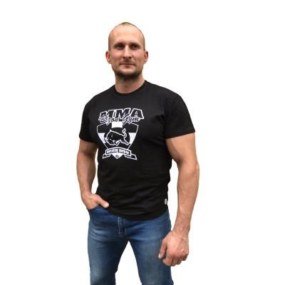 Černé tričko MMA - bílý nápis