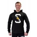Tričko s kapucí Superhuman S-FIST - černá