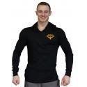 Tričko s kapucí malý Superhuman -  černá/žlutá