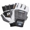 Fitness rukavice jsou vyrobeny z elastického, prodyšného materiálu, mají dvojité prošívání na citlivých místech. Barevná varianta bílo – šedá ve velikostech XS, L, XL ; bílo – černá S, M.