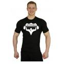 Tričko Superhuman velké logo - černá/bílá