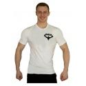Tričko Superhuman malé logo - bílá/černá