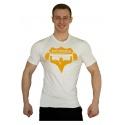 Tričko Superhuman velké logo - bílá/žlutá