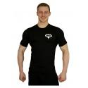Tričko Superhuman malé logo - černá/bílá