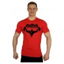 Elastické tričko Superhuman - červená/černá