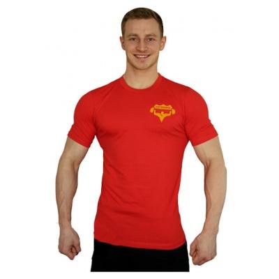 Elastické tričko malý Superhuman - červená/žlutá
