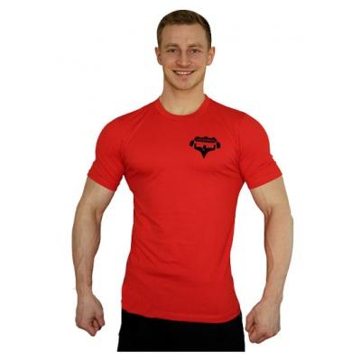 Elastické tričko malý Superhuman - červená/černá