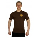 Elastické tričko malý Superhuman - hnědá/žlutá