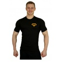 Elastické tričko Superhuman malé logo - černá/žlutá