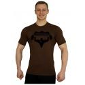 Elastické tričko Superhuman - hnědá/černá