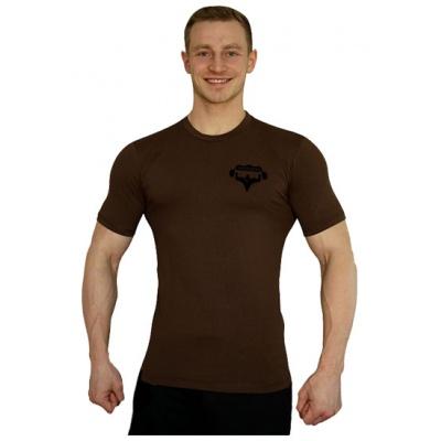 Elastické tričko malý Superhuman - hnědá/černá