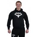 Mikina s kapucí Superhuman - černá/bílá