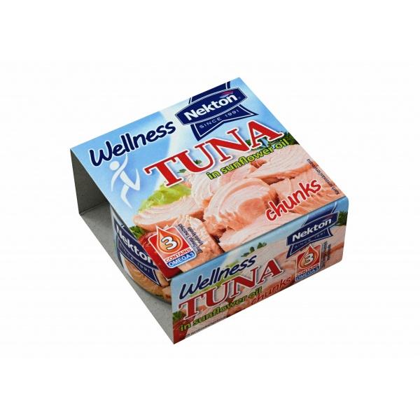 Nekton - Tuňák ve slunečnicovém oleji - kousky Wellness