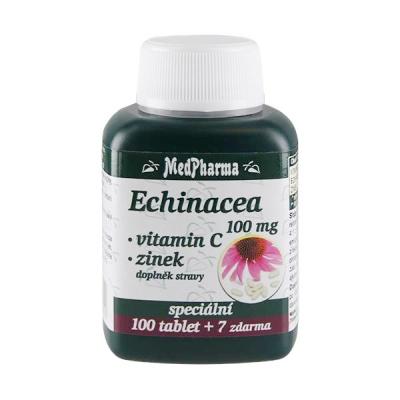 MedPharma Echinacea 100 mg + vitamin C + zinek. 107 tobolek.