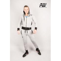 Nebbia Aesthetic Warrior mikina se zipem a kapucí 107