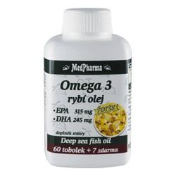 MedPharma Omega 3 rybí olej FORTE - EPA 315 mg + DHA 245 mg, 67 tobolek