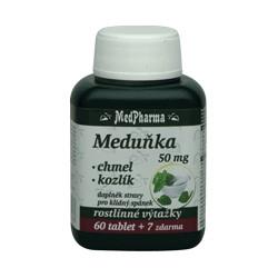 MedPharma Meduňka 50 mg + chmel + kozlík, 67 tablet