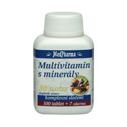 MedPharma Multivitamin s minerály 30 složek, 107 tablet
