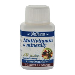 Multivitamin s minerály 30 složek, 37 tablet