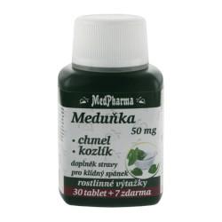 MedPharma Meduňka 50 mg + chmel + kozlík, 37 tablet