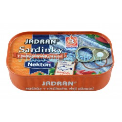 Nekton - Sardinky v rostlinném oleji pikantní Jadran
