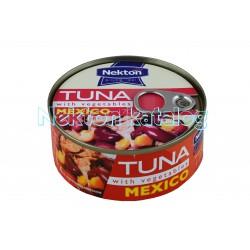 Tuňák kousky se zeleninou MEXICO 170g Nekton