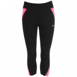 USA Pro Three Quarter Leggings - Black/Pink
