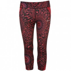 USA Pro Three Quarter Leggings - Spiral Cherokee