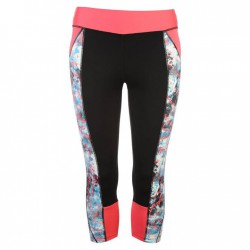 USA Pro Three Quarter Leggings - BrtPink Col Blk