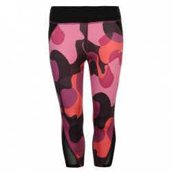 USA Pro Three Quarter Leggings - Pink Camo