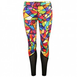 USA Pro Mesh Ladies Tight - Stained Glass