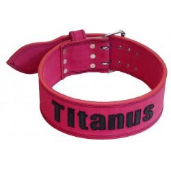 Titánus - Opasek Powerlifting růžový, dvojtá přezka
