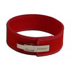 Fitness Opasek s gravírovanou pákovou přezkou, červený