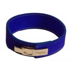 Fitness Opasek s gravírovanou pákovou přezkou 10/8, modrý