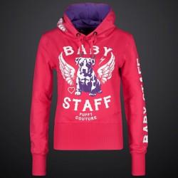 Babystaff - dámská mikina AMS-0756B Helos - Růžová