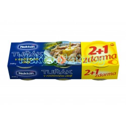 Tuňák v rostlinném oleji Nekton 2+1 zdarma - 3x80g