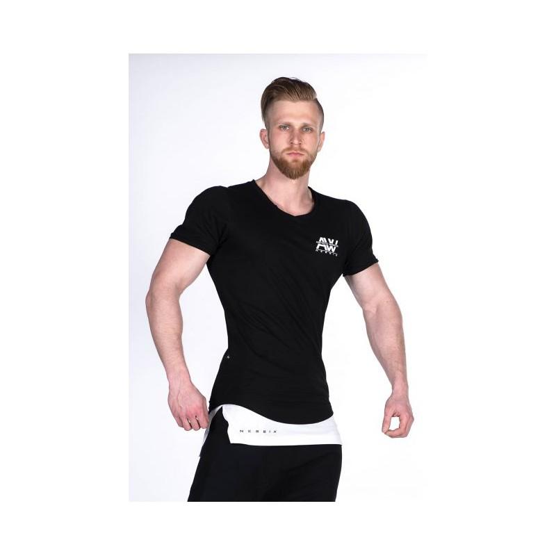 5bdb3a3d976a ... trička Nebbia Pánské tričko singlet AW 123 - černé. Obrázek