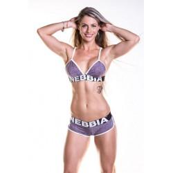 NEBBIA - Dámske fitness šortky 266 - fialová