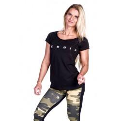 Nebbia Fitness dámské tričko 277 černé