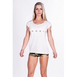 Nebbia Fitness dámské tričko 277 bílé