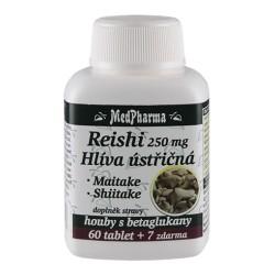 MedPharma Reishi 250 mg + hlíva ústřičná + maitake + shiitake, 67 tablet