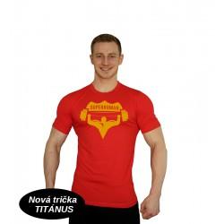 Tričko Super Human - ČERVENÁ/ORANŽOVÁ