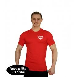 Tričko Super Human - červená/bílá