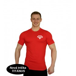 Tričko Super Human - elastické - červená/bílá