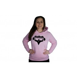 Dámská mikina Superhuman - RŮŽOVÁ / ČERNÁ
