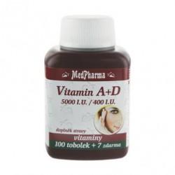 MedPharma Vitamin A + D (5000 I.U./400 I.U.), 107 tobolek